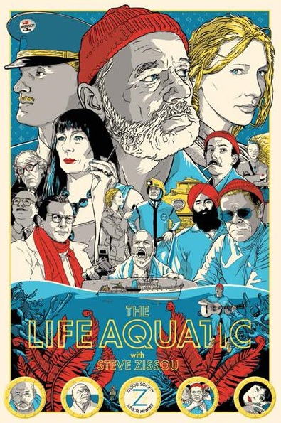 alternative movie posters life aquatic